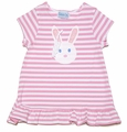 Funtasia Girls Pink Striped Knit Easter Bunny Dress
