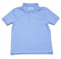 Funtasia Too Boys Light Blue Polo Shirt with Embroidery Green Whale