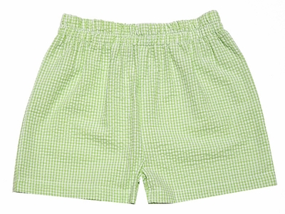 Funtasia Too Boys Lime Green Check Seersucker Shorts