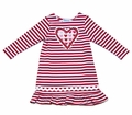 Funtasia Too Girls Red Striped Valentines Heart Knit Dress