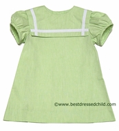 Funtasia Too Girls Square Collar Sailor Suit Dresses - Lime GREEN