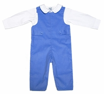Glorimont Baby / Toddler Boys French Blue Corduroy Tab Longall with Shirt