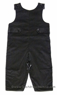 Glorimont Baby / Toddler Boys Graphite Gray Corduroy Longall with Tabs