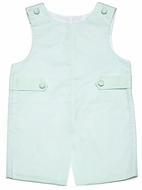 Glorimont Baby / Toddler Boys Mint Green Pique Shortall with Tabs