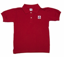 Glorimont Boys Red Cotton Polo Shirt with Anchor Patch
