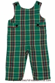 Glorimont Infant Boys Green Christmas Plaid Longall with Tabs