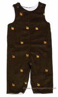 Glorimont Infant / Toddler Boys Brown Corduroy / Orange Embroidery Pumpkins Longall