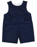 Glorimont Infant / Toddler Boys Navy Blue Pique Shortall with Tabs