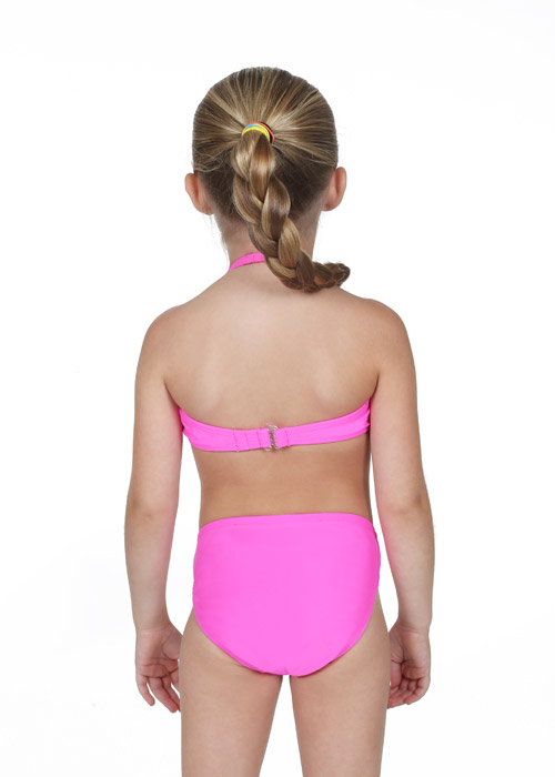 Gossip Girl Wonderland Hot Pink Eyelet Ruffle Top Bikini 2