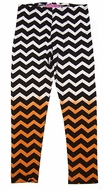 Haven Girl Graduated Ombre Chevron Leggings - Black / Brown / Orange / Ivory / White