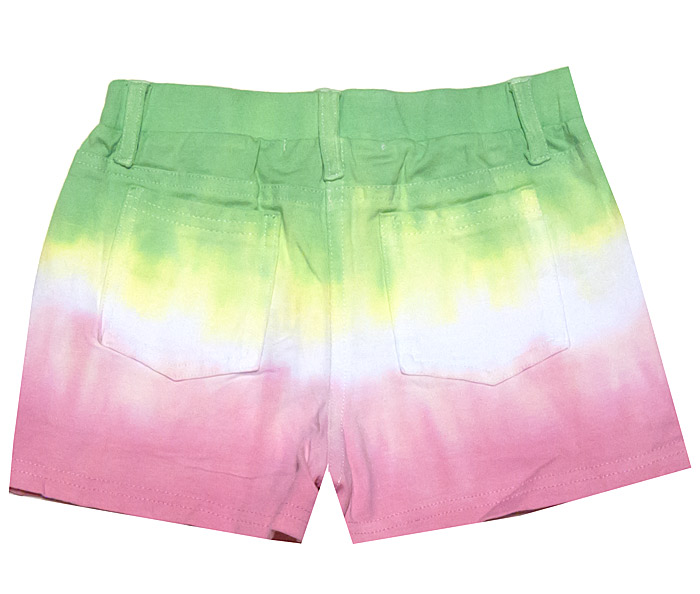 Haven Girl Green Pink Ombre Tie Dye Shorts Heart