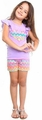 Haven Girl Lavender Chevron Heart Top with Chevron Shorts