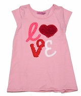 Haven Girl Rose Pink Valentine's Love Tunic Top