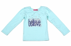 Haven Girl Sea Glass Aqua Tee Shirt - Believe