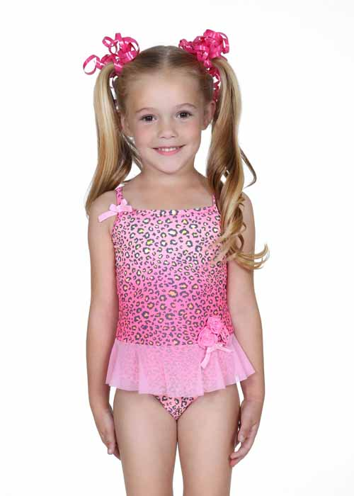 Hula Star Pink Spotted Leopard Tulle Skirted One Piece ...