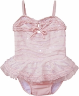 Isobella & Chole Ciao Bella Infant / Toddler Girls Light Pink Tankini Two Piece Swimsuit