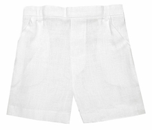 Jack and Teddy Boys Dressy Linen Dress Shorts - White