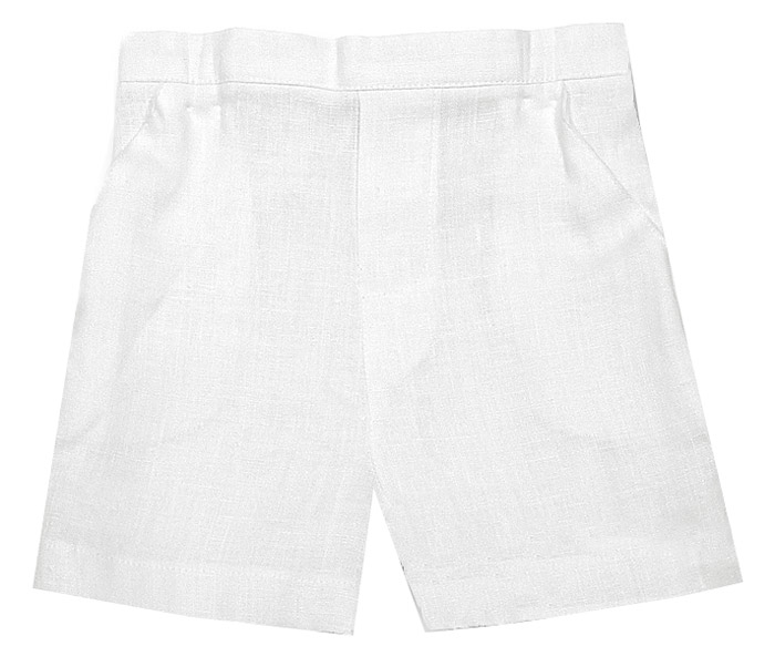 Jack & Teddy Boys White Linen Dress Shorts