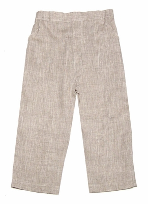 Jack & Teddy Boys Khaki/Flax Linen Dress Slacks