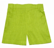 Jack and Teddy Boys Spring Green Linen Dress Shorts