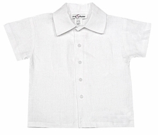 Jack & Teddy Boys Linen Dress Shirt - White