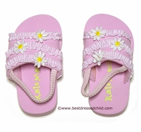 Kate Mac Girls Daisy Mae Beach / Pool Shoes with Straps - PINK