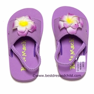Kate Mac Girls Lavender Enchanted Orchid Pool / Beach Shoes with Strap