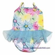 Kate Mack Baby / Toddler Girls Dipped in Daisies Floral Skirted Two Piece Swimsuit