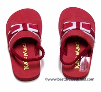 Kate Mack Baby / Toddler Girls Red Regatta Pool Shoes with Bow and Strap