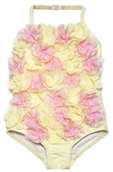 Kate Mack Baby / Toddler Yellow / Pink Heavenly Roses Swim Bubble