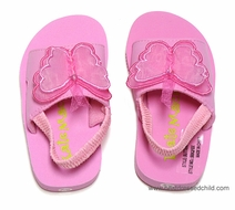 Kate Mack Girls Butterfly Ballet / All Aflutter Beach / Pool Shoes with Straps - PINK
