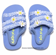 Kate Mack Girls Daisy Mae Beach / Pool Shoes with Strap - BLUE