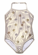 Kate Mack Girls Dipped in Magic Sparkling Gold Swimsuit