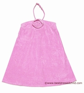 Kate mack Girls Halter Terry Beach / Pool Coverup Dress with Removable Strap - PINK