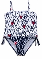 Kate Mack Girls Navy Blue Hearts Bateau L'Amour Tankini Two Piece Swimsuit