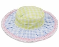 Kate Mack Girls Picnic in Provence Pastel Gingham Floppy Sun Hat