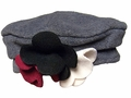 Kate Mack Girls Polar Perfection Fleece Hat - Gray with Black / Red Flowers
