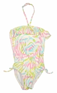 Kate Mack Girls Rainbow Connection Pink Pastels One Piece Swimsuit