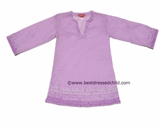 Kate Mack Girls Sheer Lavender Enchanted Orchid Cover Up Tunic