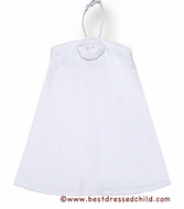 Kate Mack Girls Terry Beach / Pool Cover Up Dress with Removable Halter Strap - WHITE