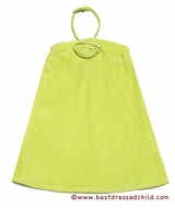 Kate mack Girls Terry Beach / Pool Cover Ups with Detachable Halter Strap - Lime GREEN