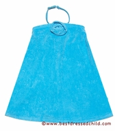 Kate mack Girls Terry Beach / Pool Coverups with Removable Halter Strap - Aqua BLUE