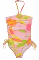 Kate Mack Girls Water Lilies Pink Pastels One Piece Swimsuit Tank