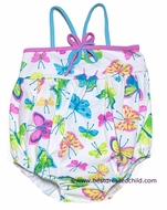 Kate Mack Infant Baby Girls All Aflutter Butterfly Print Swim Bubble