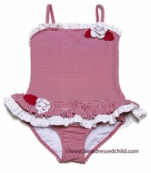 Kate Mack Infant / Toddler Girls Red Regatta Striped Two Piece Swimsuit