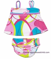Katie Mack Infant / Toddler Girls Pink / Blue A la Mod Two Piece Swimsuits