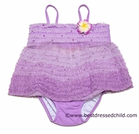 Katie Mack Infant / Toddler Girls Purple Enchanted Orchid Two Piece Swimsuit