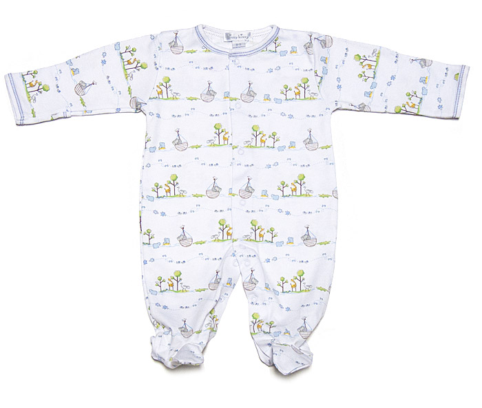 Kissy Kissy Blue Noah S Ark Island Footie For Infant Boys