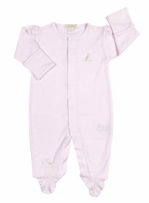 Kissy Kissy Baby Girls Cottontails Bunny Striped Footie - Pink