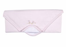 Kissy Kissy Baby Girls Cottontails Bunny Striped Receiving Blanket - Pink
